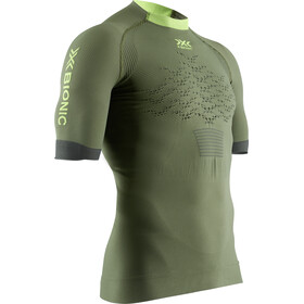 X-Bionic The Trick G2 Hardloop T-shirt Heren, olive green/phyton yellow